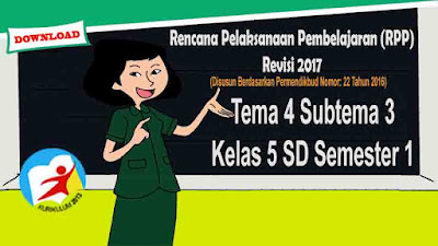 RPP Tematik Kelas 5 SD Tema 4 Subtema 3 Kurikulum 2013 Revisi 2017