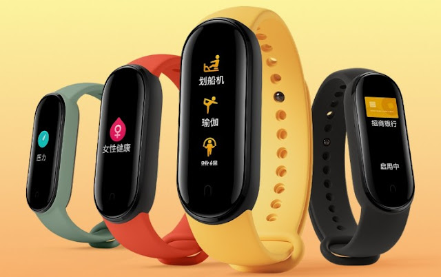 New Xiaomi Mi Band 5 images appear showing official colors.