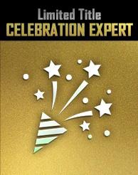Reward 3 - Celebration Expert (Limited Title)