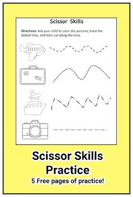 Scissor skills and practice