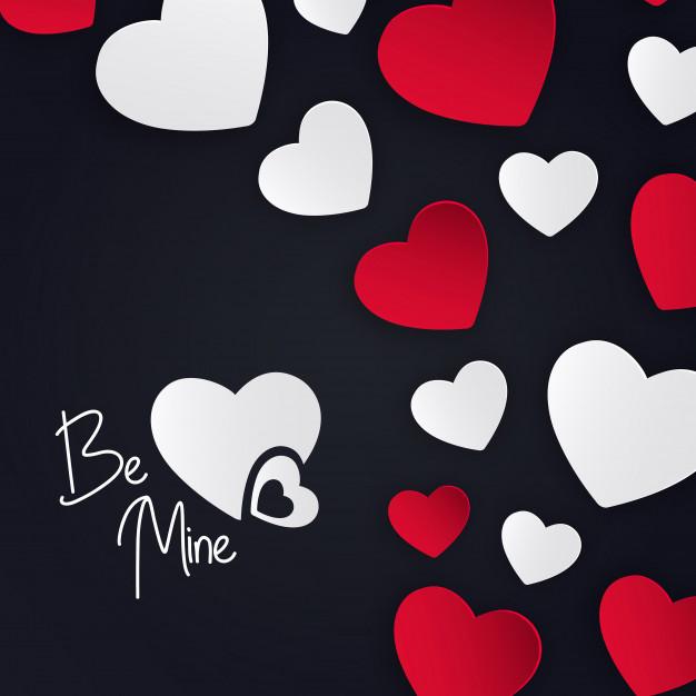 Valentine Hearts Background Free Vector