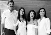 Tara Sutaria with her family