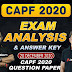 Stay tuned with Defenceadda for CAPF Exam Analysis and Answer key Live @ 5 PM