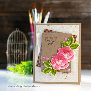 Sunny Studio Stamps: Love Monkey Staggered Circles Everything's Rosy Birthday Card Well Wishes Card by Wanda Guess