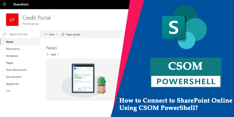 connect to sharepoint online csom powershell