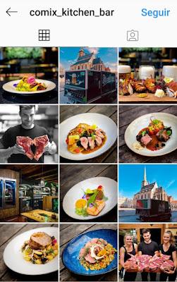 Instagram COMIX Kitchen Bar