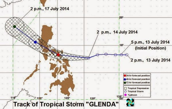 Bagyong Glenda July 14, 2014 update
