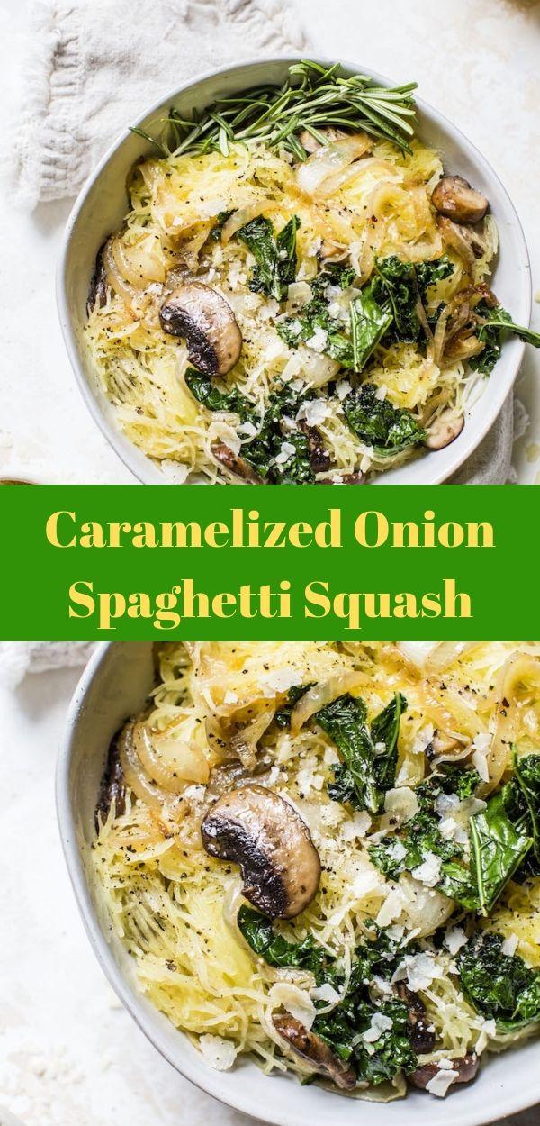 Caramelized Onion Spaghetti Squash