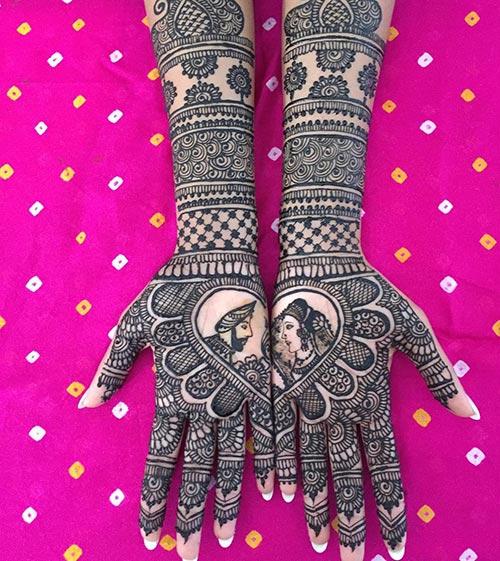Raja Rani Mehendi Design
