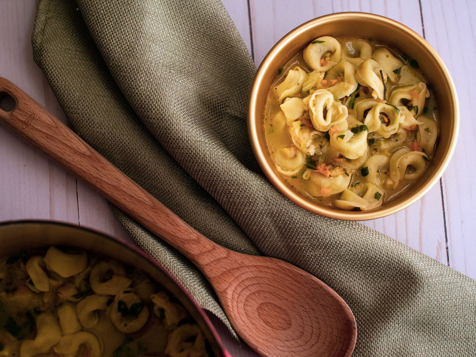 A simple comforting tortellini soup that will warm you up in mind, body and soul. | Local Food Rocks