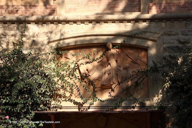 Decoration on an Art Nouveau style facade.