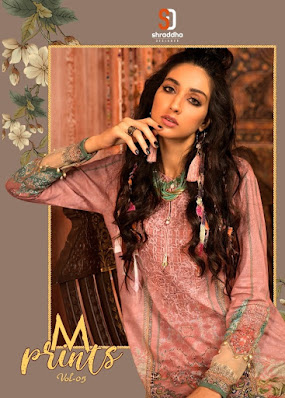 Shraddha Designer M print vol 5 pakistani Suits wholesaler
