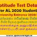 Aptitude Test Details : University Entrance 2021 (for GCE A/L 2020)