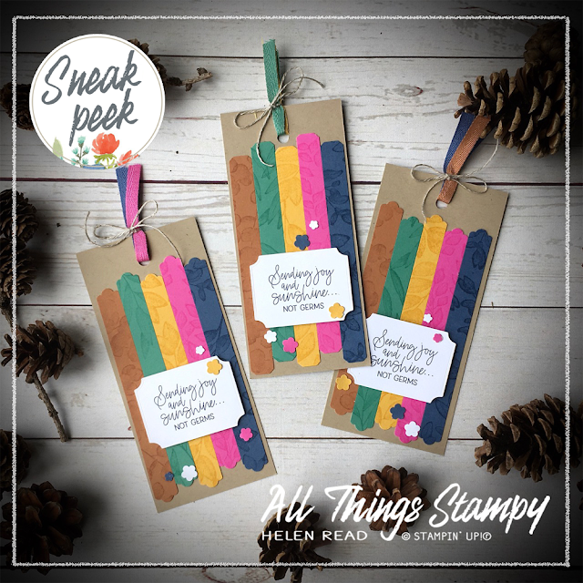 In Color bookmark Lovely Labels Pick a Punch Stampin Up