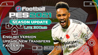 Download PES 2021 PPSSPP Android Lite English Version Update New Transfers & Faces Kits