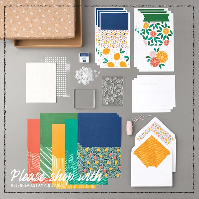 Simply Citrus Card Kit Stampin Up