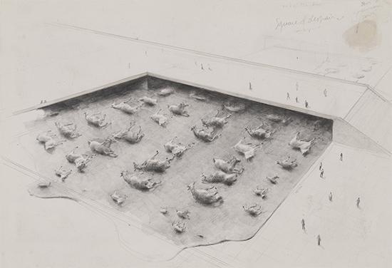 Michaël Borremans Square of Despair, 2005 pencil on cardboard 24.6 x 35.6 cm