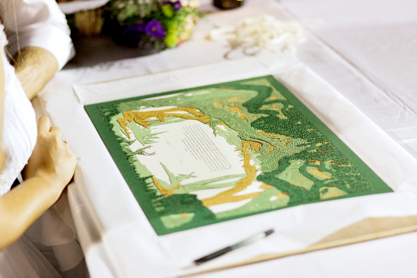 ketubah by Woodland Papercuts photo by Adrian Sebal
