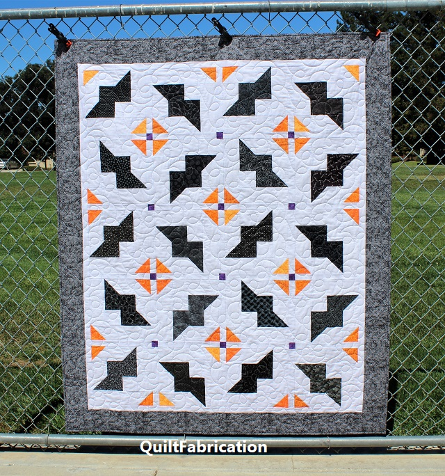 Just Batty quilt lap size by QuiltFabrication