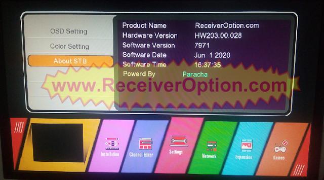 GX6605S HW203.00.028 NEW SOFTWARE WITH U38 MENU 1 JUNE 2020