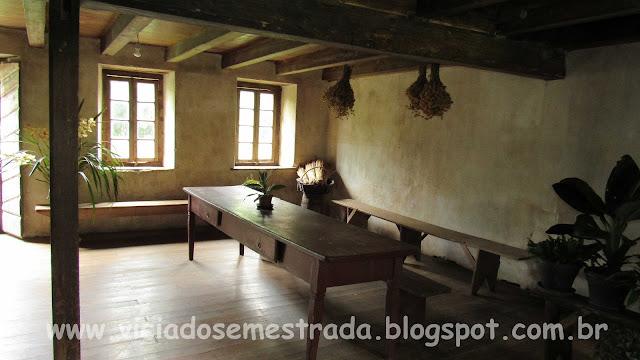 Rusticidade no interior da Casa De Bona, Farroupilha, RS