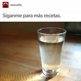 Síganme para más recetas un vaso de agua
