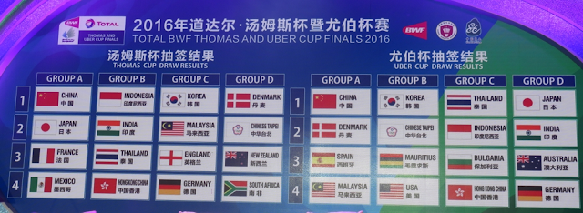 Piala Thomas & Uber 2016