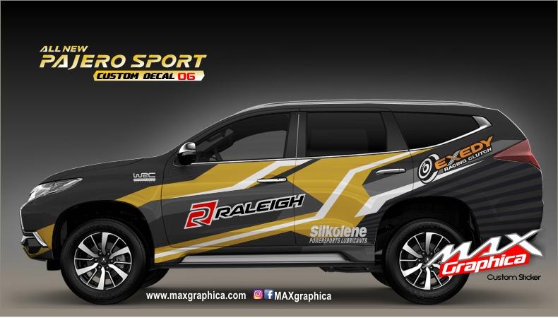 Stiker mobil all new pajero sport desain suka suka