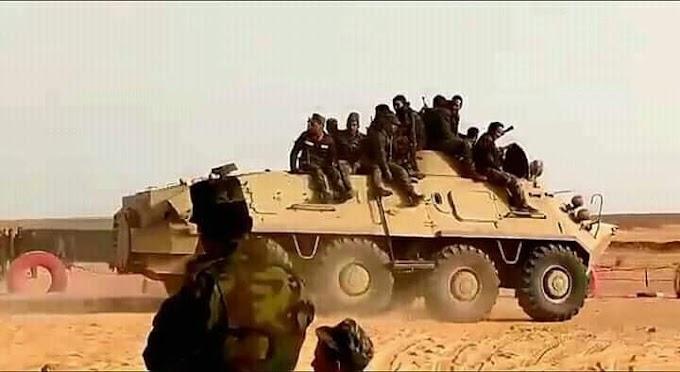 وحدات جيش التحرير الشعبي الصحراوي تنفذ هجمات مركزة استهدفت جحور وتخندقات قوات الإحتلال المغربي.