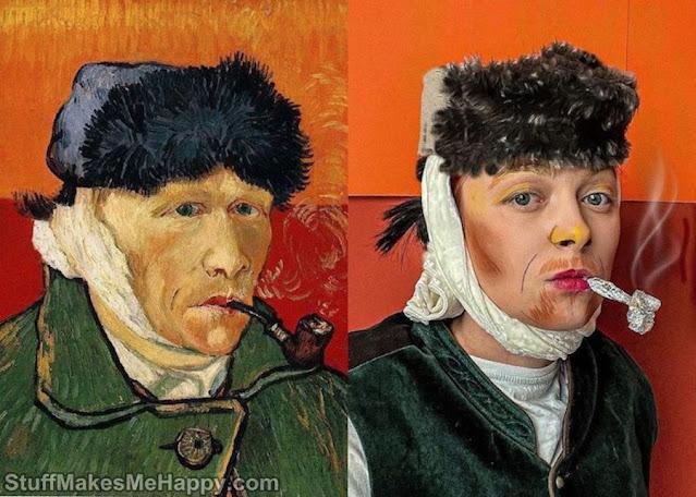 Self-portrait with bandaged ear (Vincent van Gogh)
