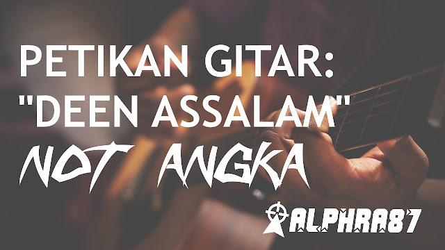 "Melodi Petikan Gitar ""Deen Assalam"" Nissa Sabyan (Not Angka)"