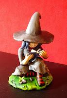 orme magiche streghetta morgana mascotte modellini statuette sculture action figure personalizzate fatta a mano super sculpey