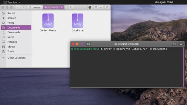 Ektrak file Rar di Ubuntu Via Terminal