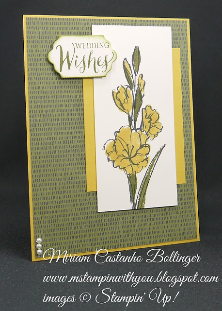 Miriam Castanho-Bollinger, #mstampinwithyou, stampin up, demonstrator, dsc, wedding card, botanical gardens dsp, gift of love stamp set, rose wonder stamp set, big shot, lots of labels framelits, su