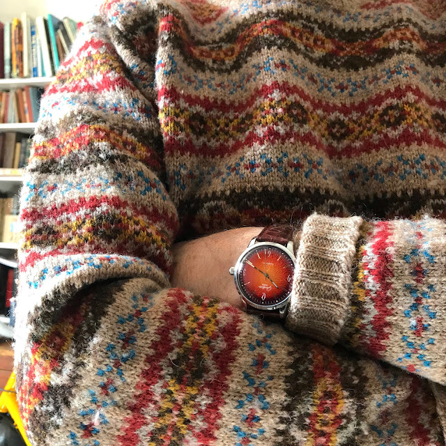 orange, watch, glashutte original, sixties