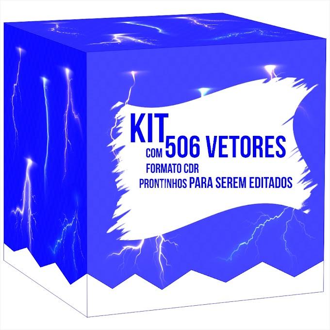 Kit 506 vetores no formato CDR, prontinhos para serem editados