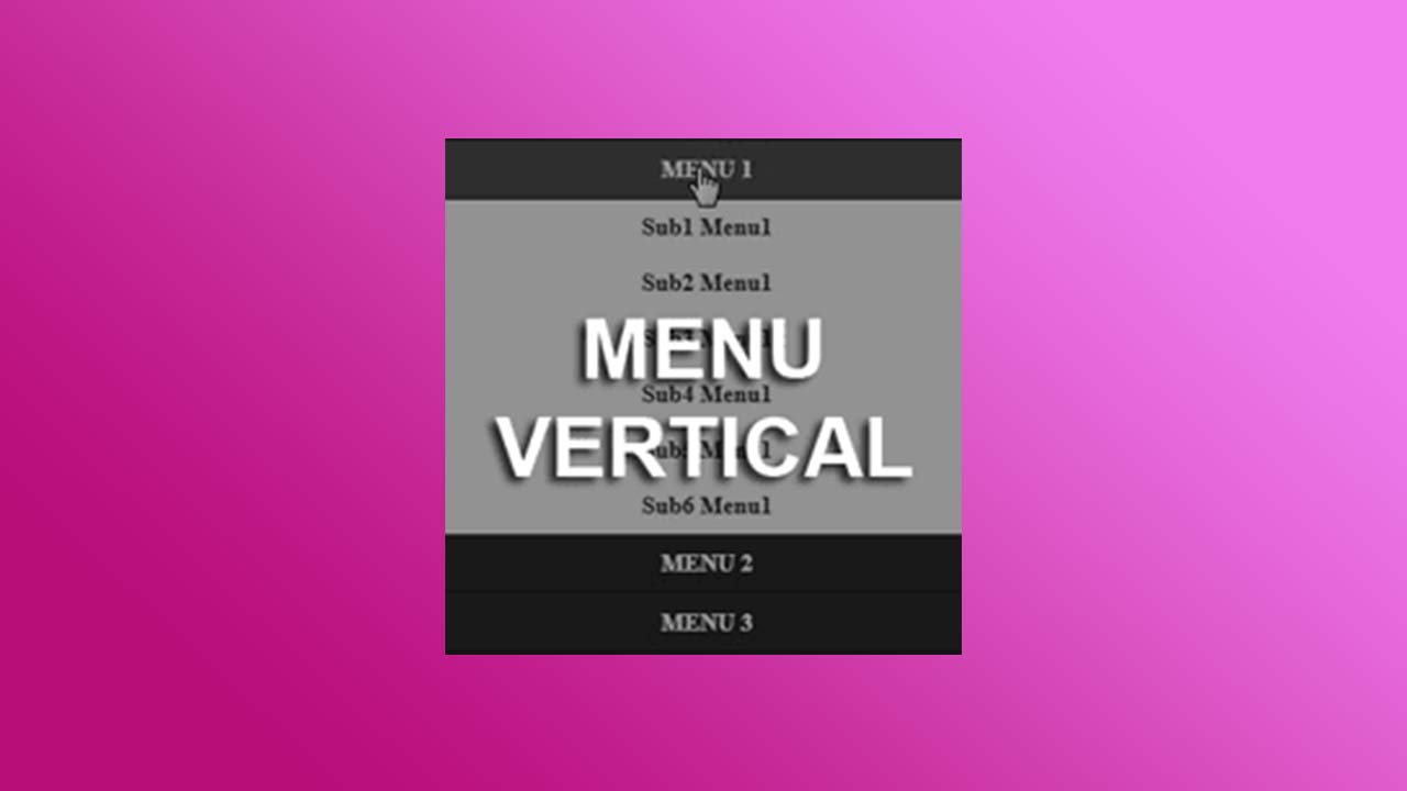 Menu Vertical Dan Menu Vertical Hide