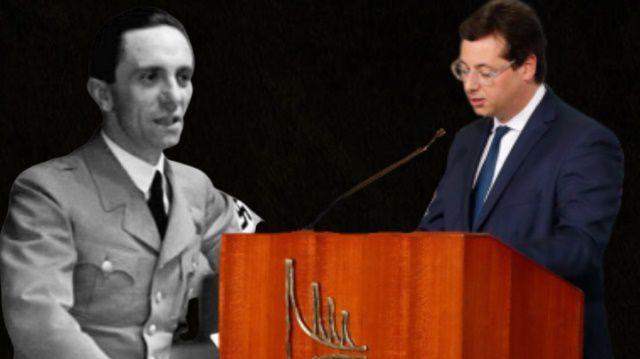 Lançamento da agenda positiva de Bolsonaro ao estilo nazista de Goebbels