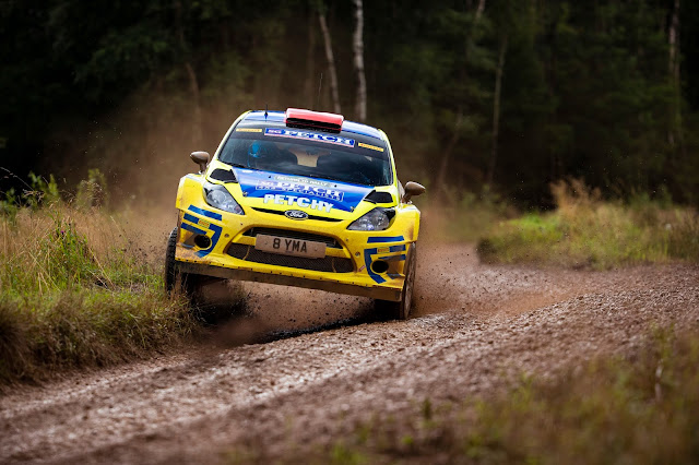 Stephen Petch on M-sport Rally Stages in a Ford Fiesta WRC Car