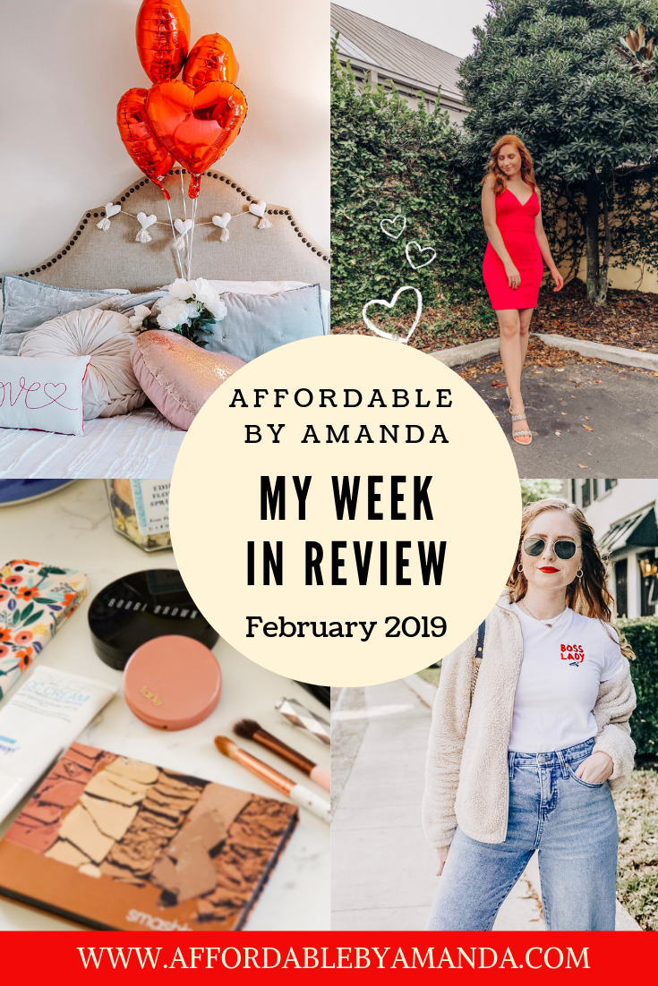 my week in review on affordable by amanda