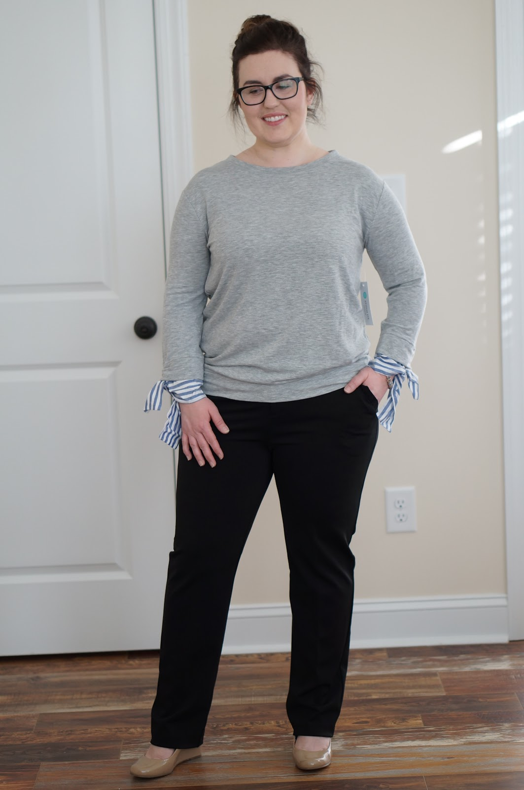 Rebecca Lately Stitch Fix Potter's Pot Paris Straight Ruffle Pants