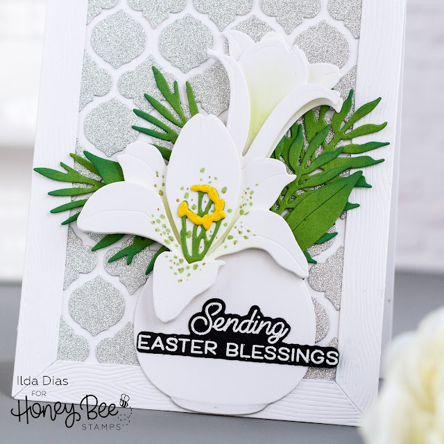 Quatrefoil Cover Plates,Easter Lily Dies,Honey Bee Stamps,Spring Bliss,Sneak Peeks,Wood Frame, Card Making, Stamping, Die Cutting, handmade card, ilovedoingallthingscrafty, Stamps, how to,