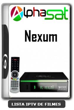 Alphasat Nexum Nova Atualização VOD PREMIUM, Otimização 63w ON, Adição 107w ON, Adição 61w ON  V12.01.09.S75 - 11-01-2020
