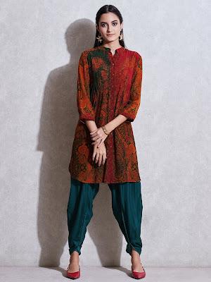 Ritu Kumar Red & Pink Kurtis Collection