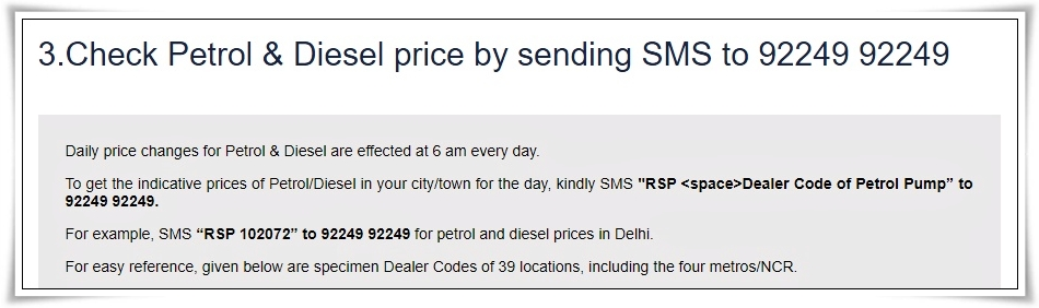 Find out the Petrol Diesel Rate of 41 cities by sending SMS to this number, check the name of your city