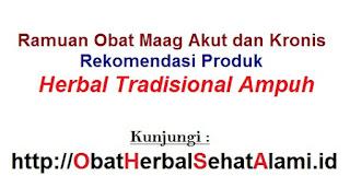 Obat herbal alami tradisional sakit maag akut/kronis,lambung,pencernaan~kumpulan resep