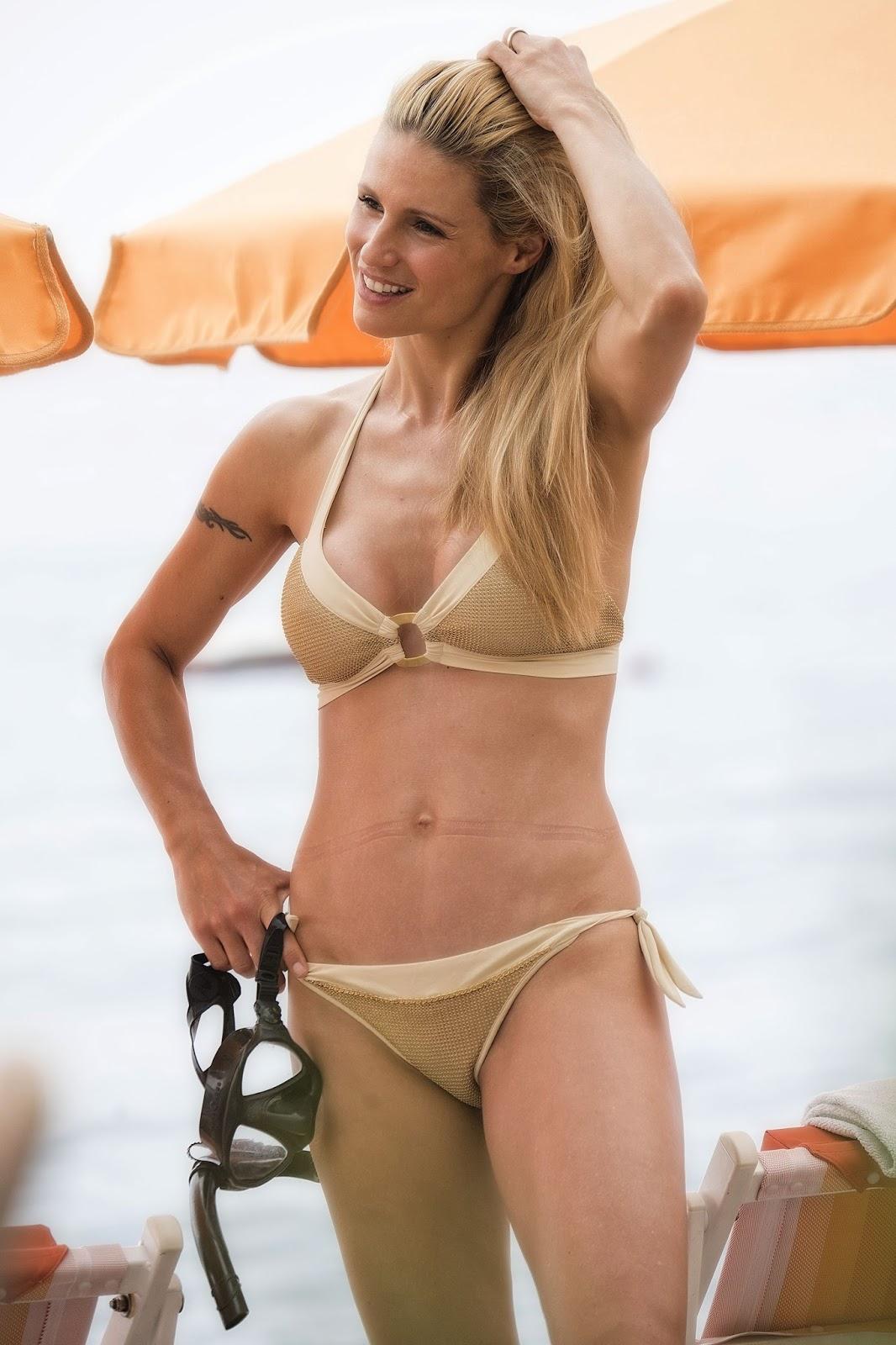 Michelle Hunziker en bikini
