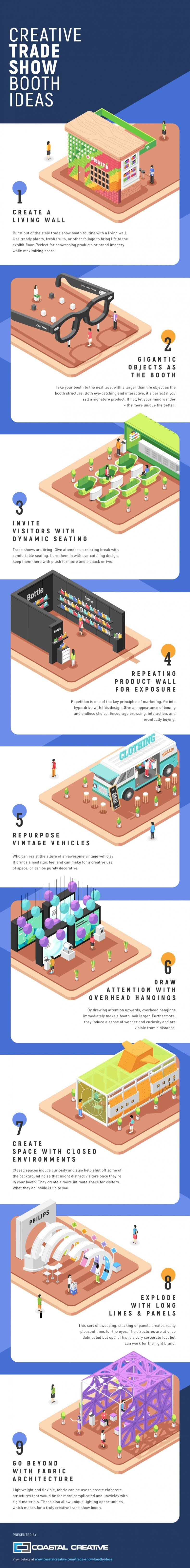 Creative Trade Show Booth Ideas #infographic #Business #trading