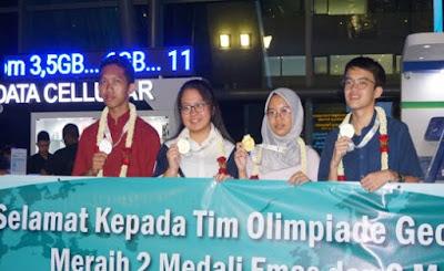 Bangga Indonesia Juarai Olimpiade Geografi Internasional 2019