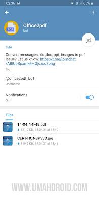 Bot Telegram Convert PDF